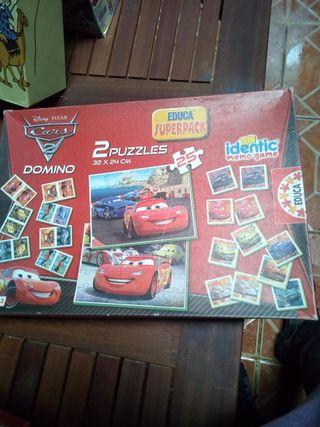 puzzle, domino de cars