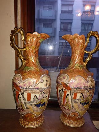 jarrones porcelana Satsuma