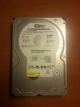 Disco duro IDE 160 GB poco uso gran estado
