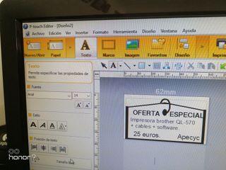 Impresora tickets y códigos barras en pegatinas