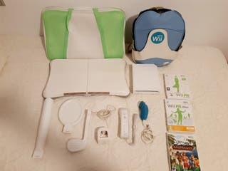 wii + wii fit + accesorios