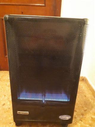 estufa llama azul