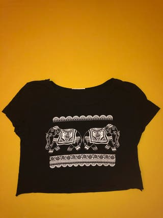 Camiseta crop top