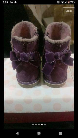 beautiful suede purple boots