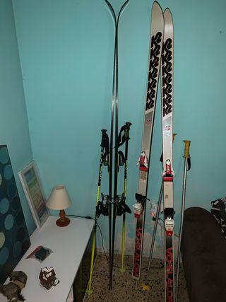 esquís seminuevos
