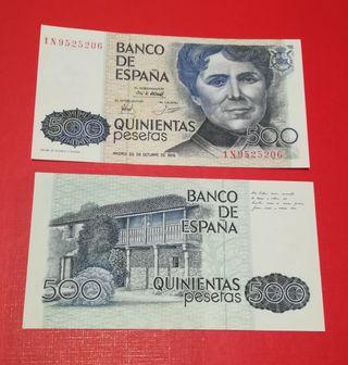 500 pesetas SC 1979 pareja correlativa