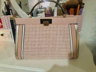 Pink/rose river island bag