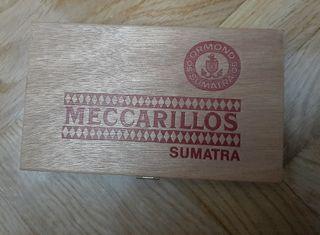Caja de madera vacía Meccarillos Ormond Sumatra
