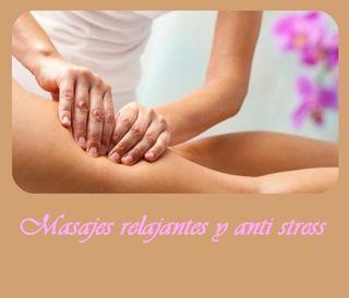 Masajes anti estrés, relajantes, descontracturants