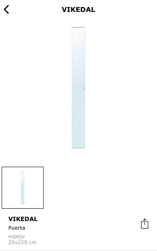Puerta espejo VIKEDAL 25x229 cm