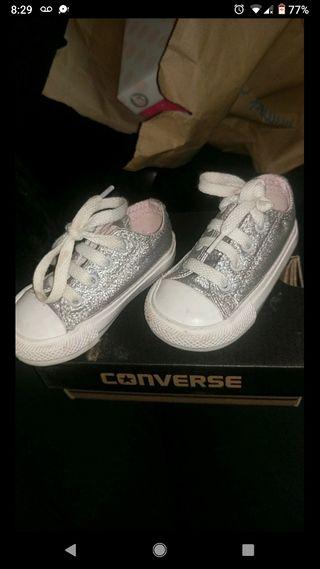 silver toddler converse size 4