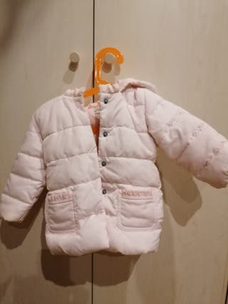 Abrigo rosa claro Benetton 9-12 meses