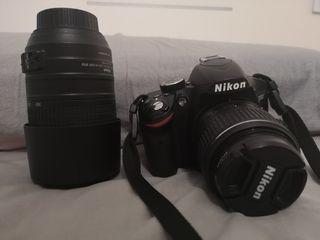 Cámara Nikon D3200 + objetivo nikkon 70-300 vr