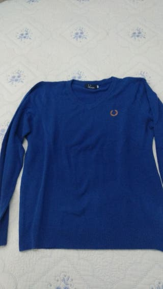 Jersey Fred Perry Azul y Fucsia T XL