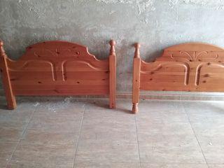 Cabeceros de pino estilo provenzal camas 90 cm a 1