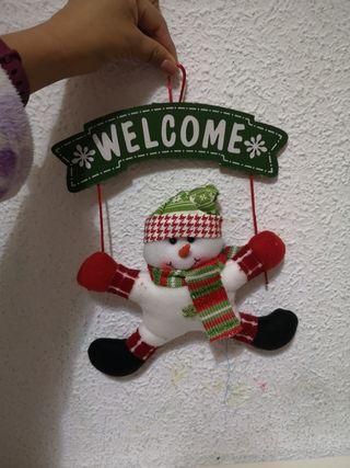 Adorno navideño para la puerta