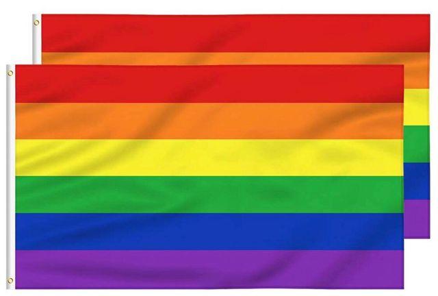 Banderas (2) Orgullo gay poliéster 5x3ft