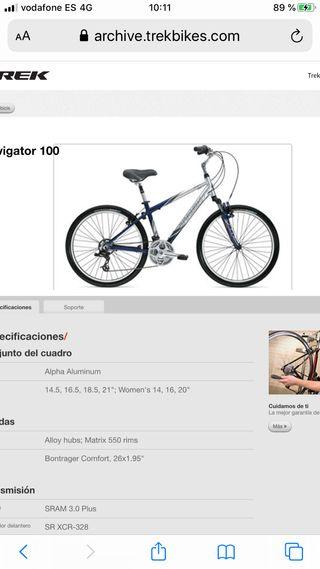 Bicicleta de mujer con funda