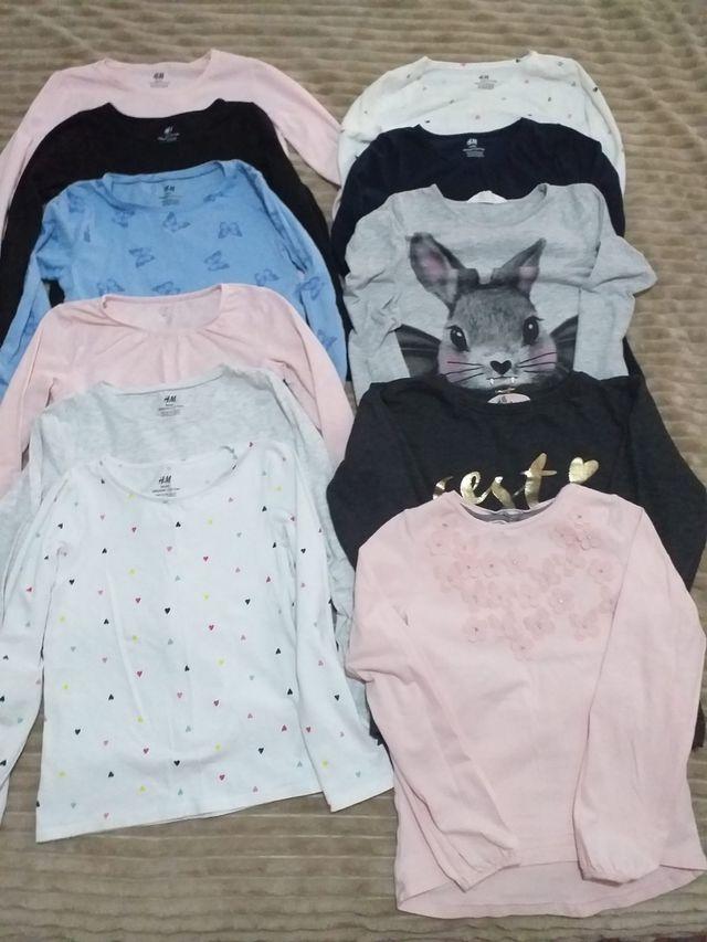 11 camisetas HM talla 6-7 años