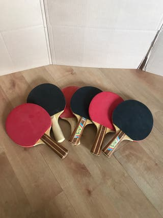 6 raquetas de Pin Pon