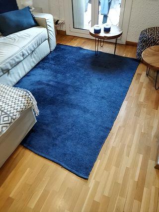 Alfombra azul Zara Home 200x145