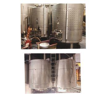 Depósitos de fermentación de vino