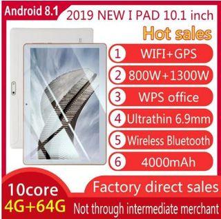 10,1 pulgadas para Android 8,1 Tablet PC 4 GB + 64