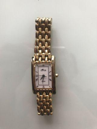 Reloj señora Lotus chapado en oro