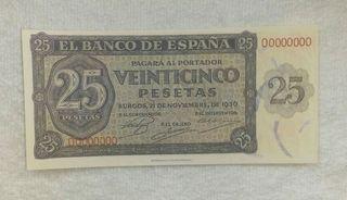 Facsimil/Billete Veinticinco pesetas (1936)