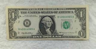 Facsimil/Billete one dollar