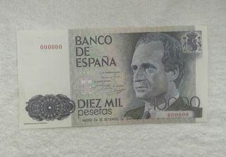 Facsimil/Billete Diez mil pesetas (1985)