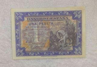 Facsimil/Billete Una peseta (1940)