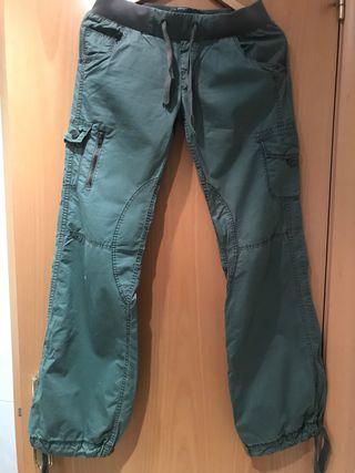 Pantalones militares pata ancha