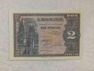 Facsimil/billete Dos pesetas (1937)