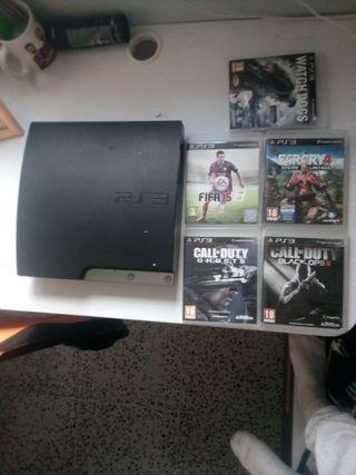 PS3 con 5 juegos y dos de ellos son edición limita