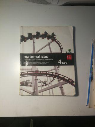 libro de texto matemáticas académicas 4ESO