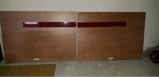 Cabecero cama 135/150 + Somier 150