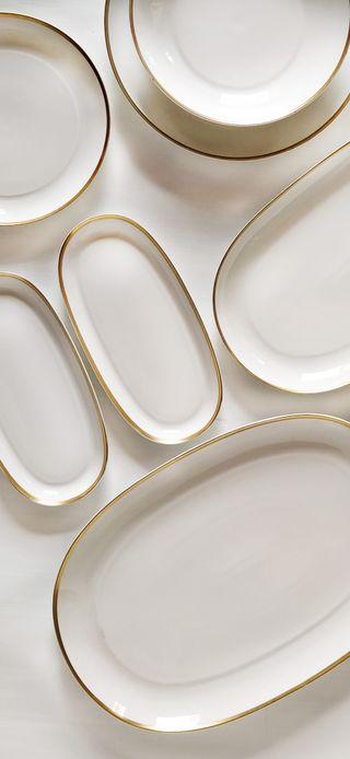 Vajilla de porcelana y oro Bidasoa - 12 servicios