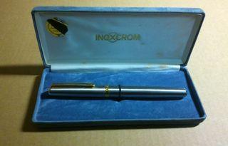 Bolígrafo Inoxcrom con caja Gold 23.6 kts