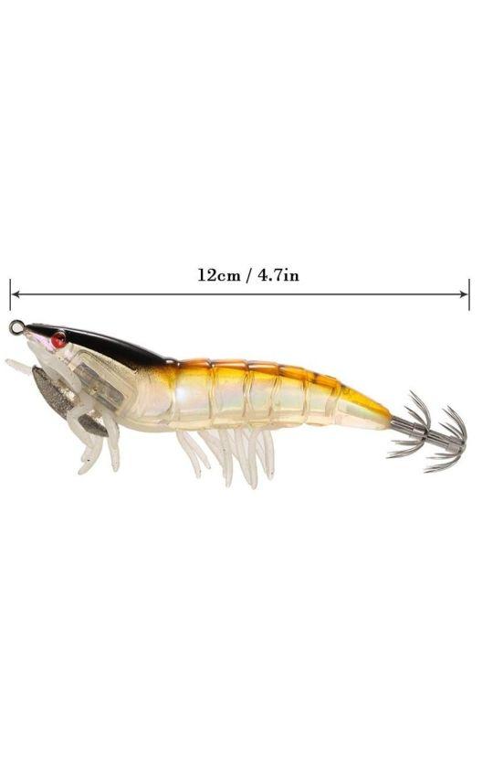 Lixada 3/5pcs 12 cm/21 Noctilucentes Pesca Camaron