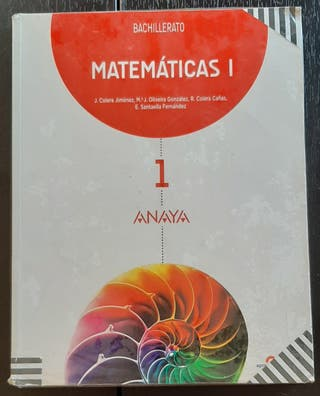 Libro Matemáticas 1º Bachi