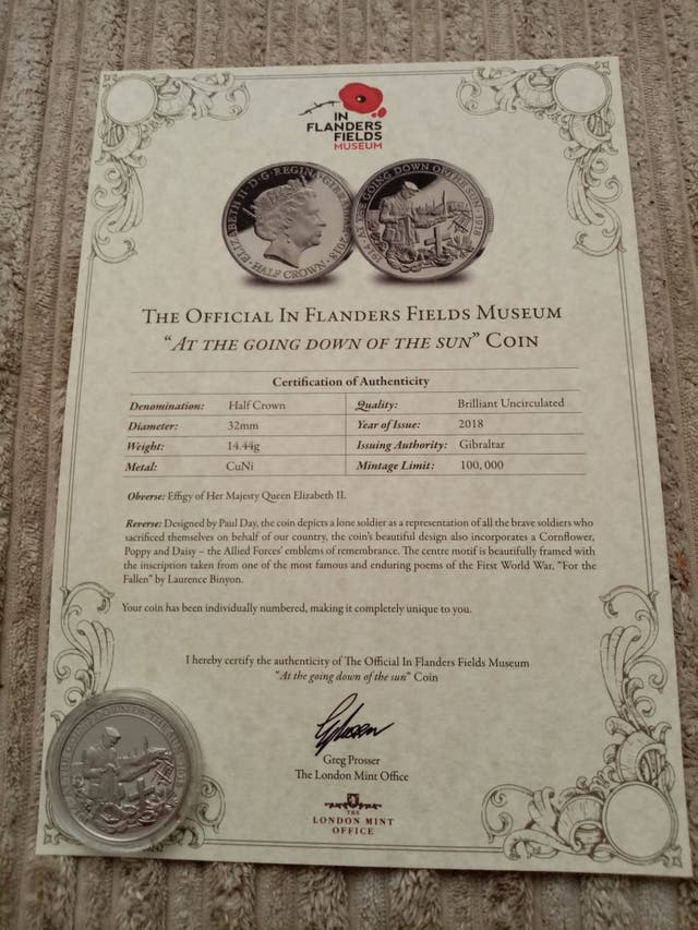 the official going down of the sun coins