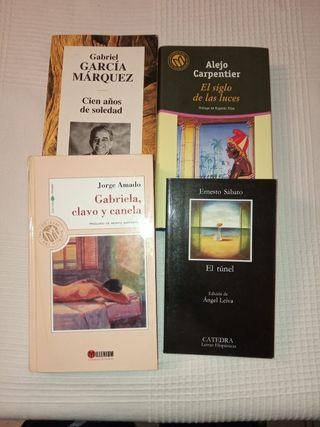 Pack de 4 libros de Literatura Hispanoamericana