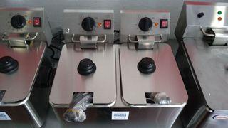 freidora inox industrial 4+4 litros nuevas