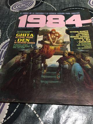 El cómic 1984 la fantasía la ciencia ficcion