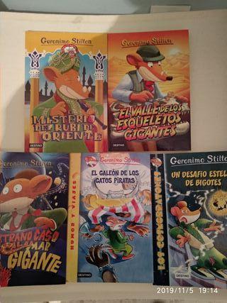 Libros colección Gerónimo Stilton.