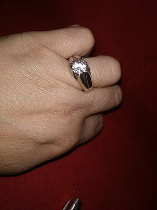 anillo de plata hombre solitario años 50