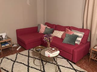 Vendo sofa FRIHETEN IKEA color rosa