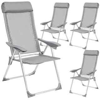 4 Aluminio Sillas de jardín plegable alu sillón ba