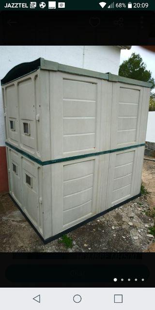 Caseta de jardin de resina